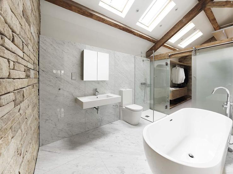 Maison 141 Salle de bain minimaliste par Andrew Wallace Architects Minimalist