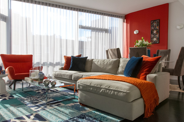 Hells Kitchen Penthouse Living room par Bhavin Taylor Design