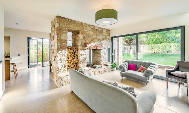Solid House, North Berwick Salon moderne par Chris Humphreys Photography Ltd Modern