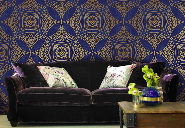 Salon de style colonial Oriental Pattern par Pixers Colonial