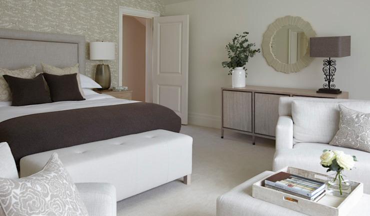 Maison de campagne, Hampshire Chambre à coucher de style country par Helen Green Design Country
