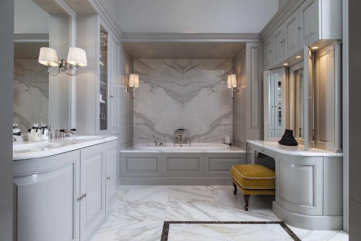 Design sur mesure du service Bath Couture Salle de bains de style classique par Devon&Devon UK Classic Marble