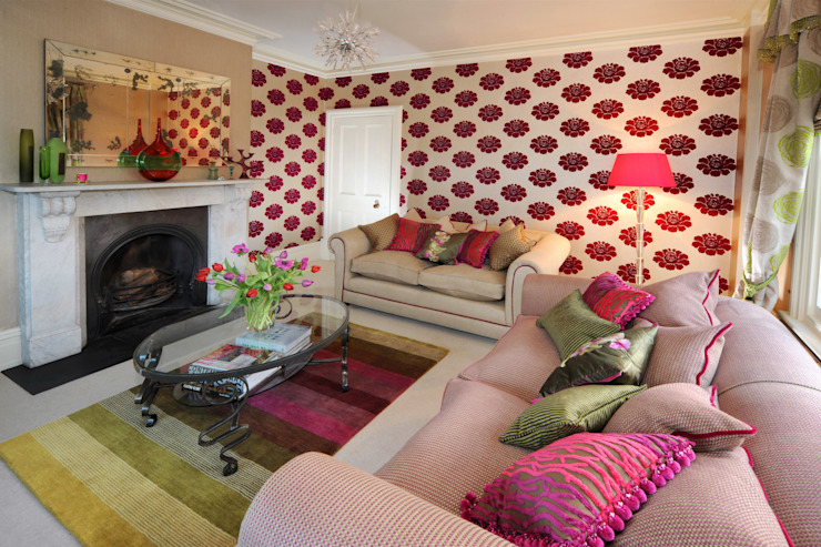 Un salon de style éclectique dans une maison victorienne par Deborah Warne Interiors Ltd Eclectic