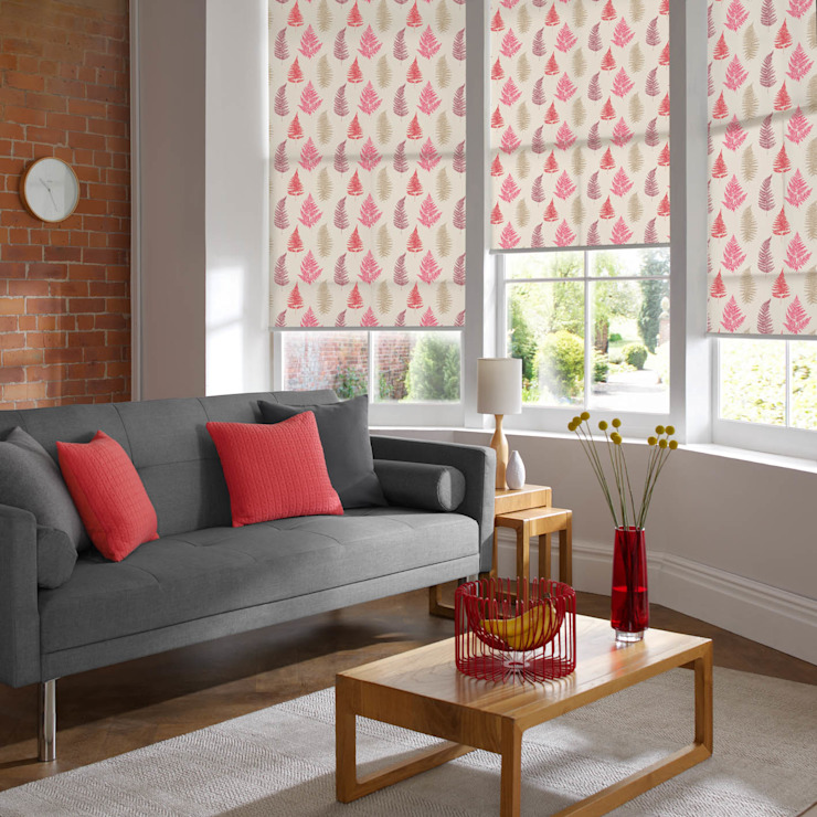Fern Redcurrant Roller Blind Modern living room by Appeal Home Shading Modern