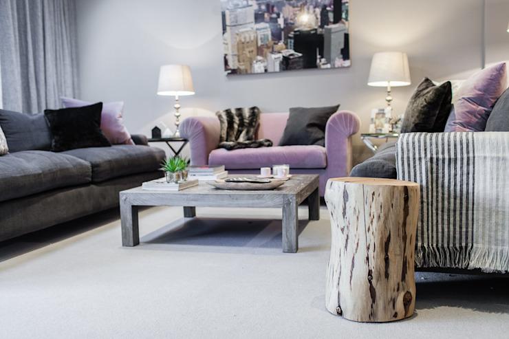 Open Plan Space Salon de style éclectique par Lauren Gilberthorpe Interiors Eclectic