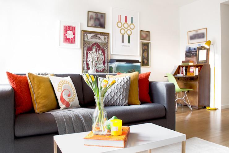 Hampstead Heath Apartment Salon de style éclectique par Bhavin Taylor Design éclectique