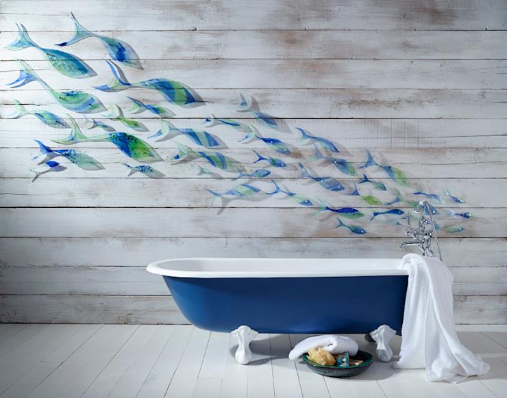 Shoaling Fish Modern salle de bain par Jo Downs Modern