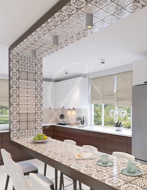 Cuisine de Comelite Architecture, structure et design d'intérieur moderne