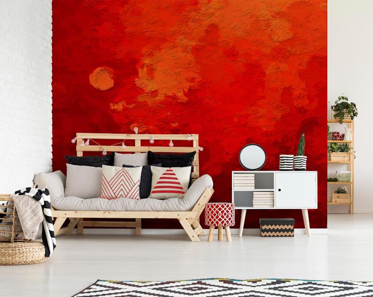 La profondeur du rouge salon moderne par Pixers Modern
