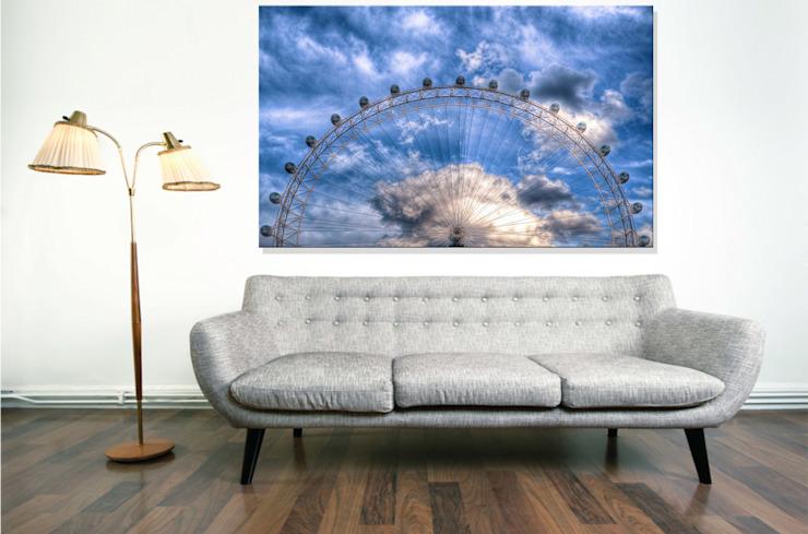 La moitié supérieure du London Eye : moderne par Nick Jackson Photography, Moderne