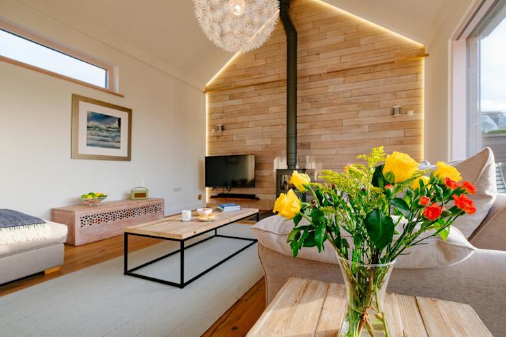La maison du trésor, Polzeath | Cornwall Salon de style rustique par Perfect Stays Rustic