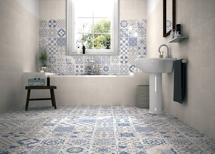 La salle de bain de style Elle Country par The Baked Tile Company Country