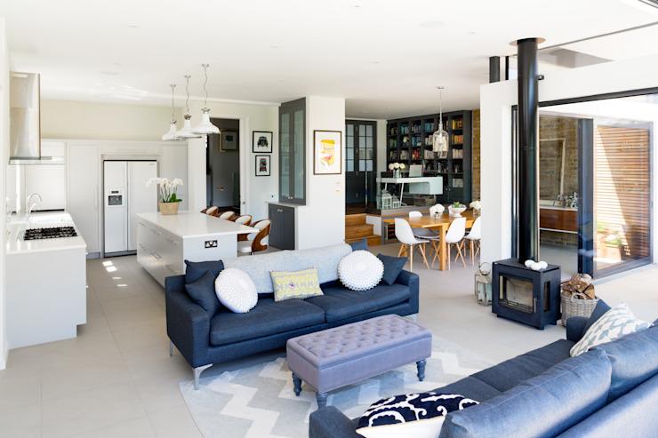 Broadgates Road Salon moderne par Granit Architects Modern