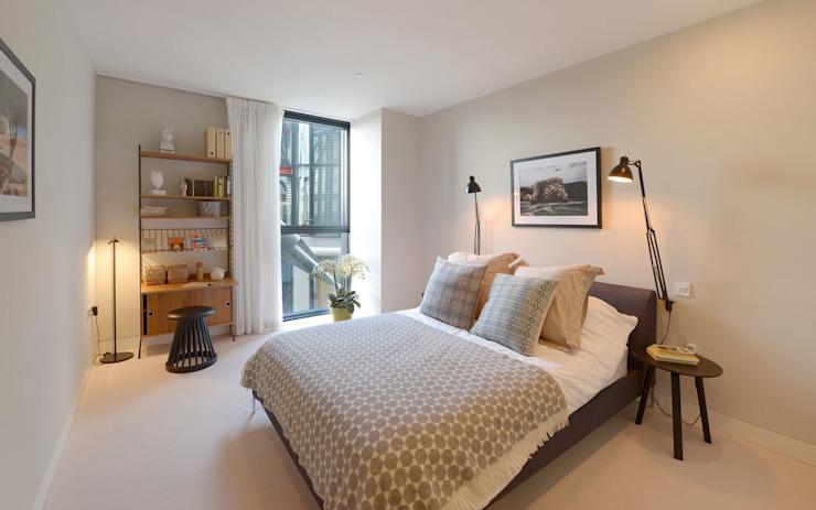 Chambre à coucher Minimaliste par Graham D Holland Minimaliste
