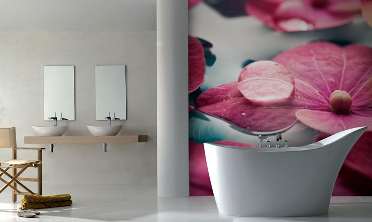 Bain en fleurs Salle de bains moderne de Pixers Modern