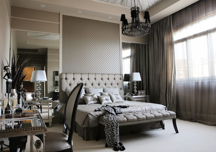 Chambre à coucher Boudoir Chambre à coucher de style classique par Gracious Luxury Interiors Classic