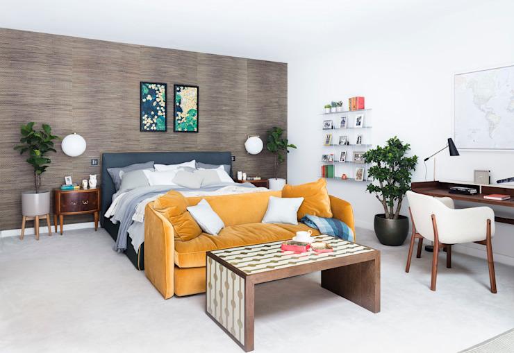 Nouvelle maison moderne à Hampstead - chambre principale : moderne par Black and Milk | Design d'intérieur | Londres, Moderne