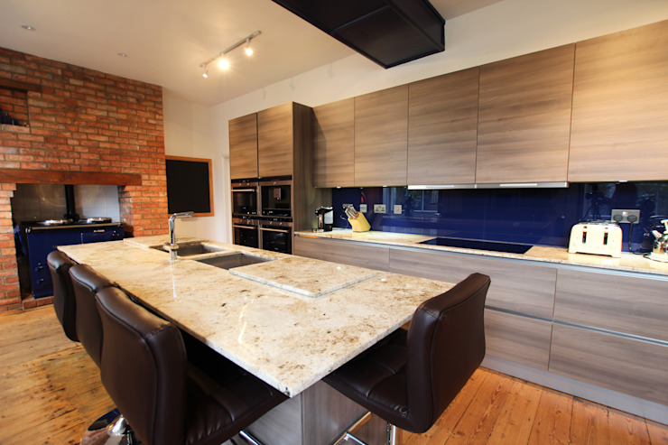 Cuisine grise en bois d'acacia laminé Cuisine moderne de LWK London Kitchens Modern
