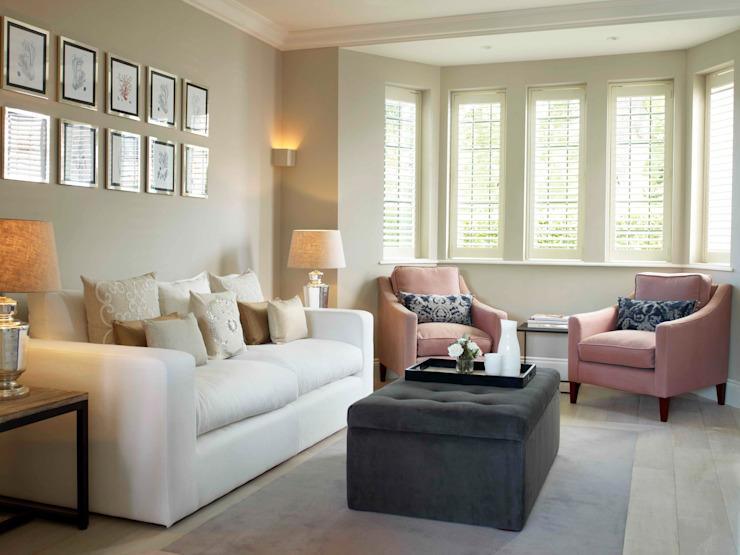 Hampstead, Londres - Salon résidentiel de style classique par Peach Studio Classic