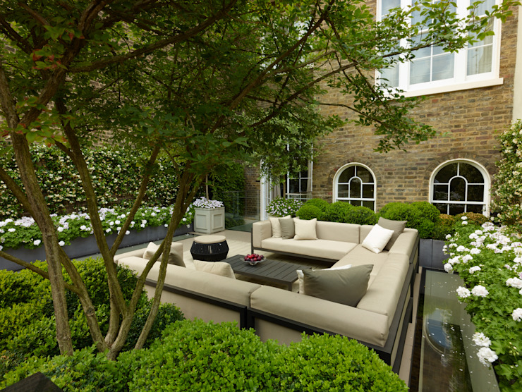 A London Roof Garden Balcon, véranda et terrasse modernes de Bowles & Wyer Modern