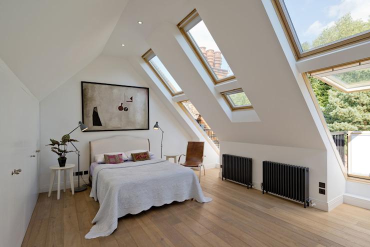 Hampstead Penthouse Chambre à coucher minimaliste par DDWH Architects Minimalist