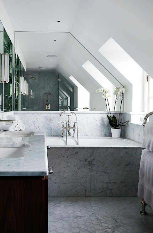 Salle de bains 2 Salle de bains moderne par homify Modern