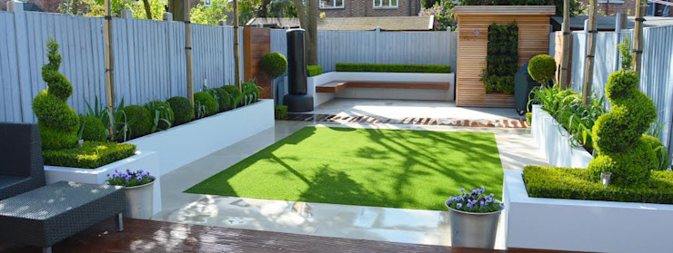 Jardin minimaliste Jardin moderne par Landscaper in London Modern