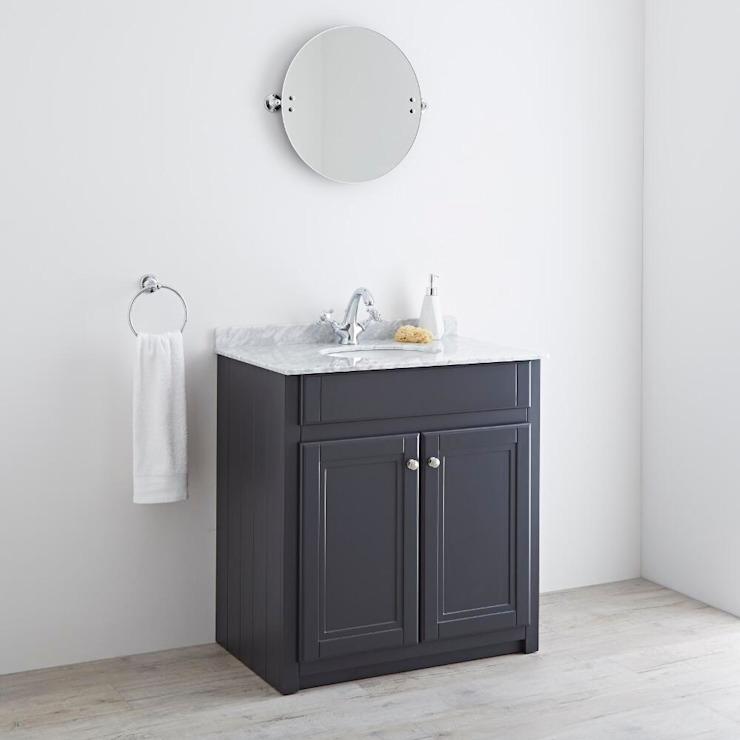 Milano Edgworth 800mm Anthracite Vanity Unit Salle de bain de style classique par BigBathroomShop Classic
