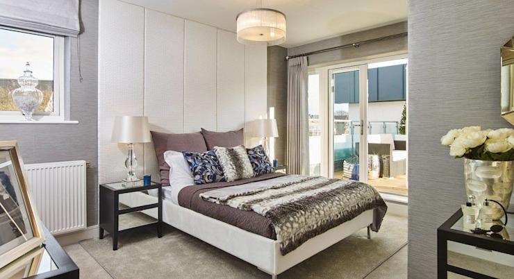 Chambre à coucher de style moderne par homify Modern