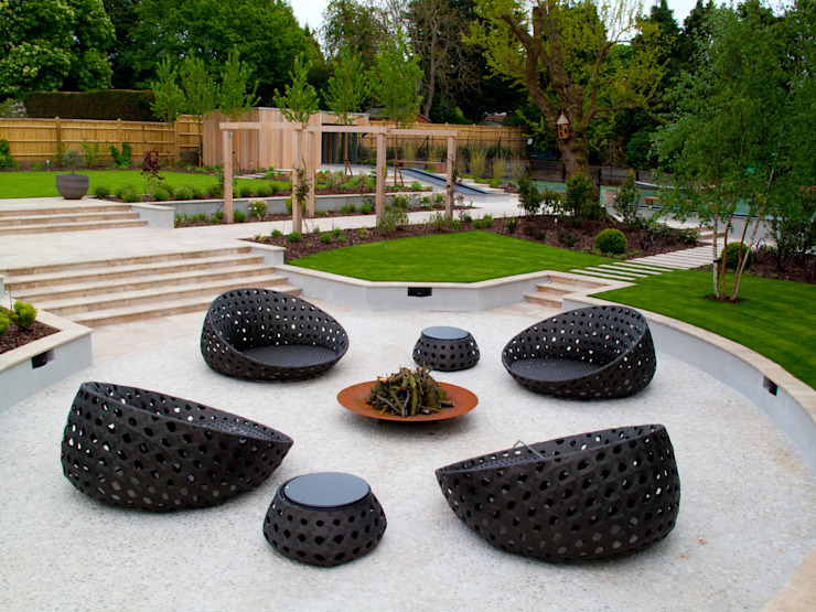 Un jardin privé, jardin de Surrey Modern par Bowles & Wyer Modern