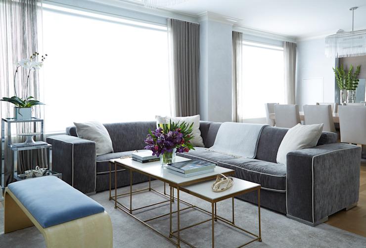 Maison familiale de New York : moderne par JKG Interiors, Modern