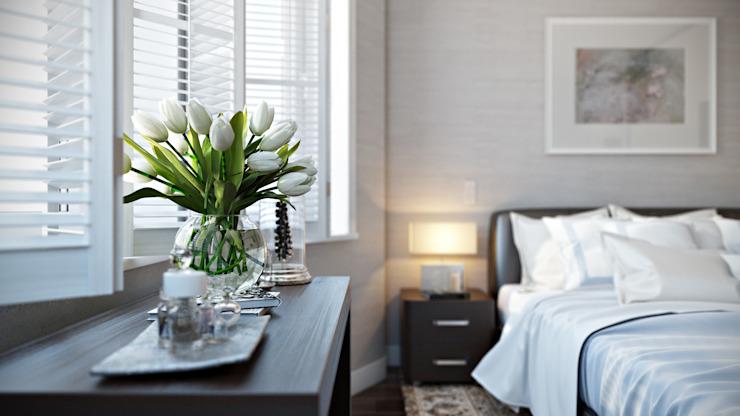 Chambre à coucher Chambre à coucher de style moderne par Hampstead Design Hub Modern