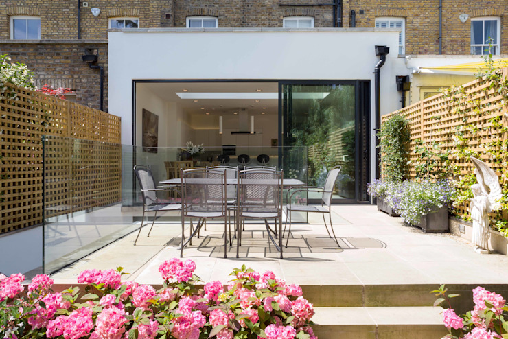 Fulham House Balcon, véranda et terrasse modernes par Frost Architects Ltd Modern