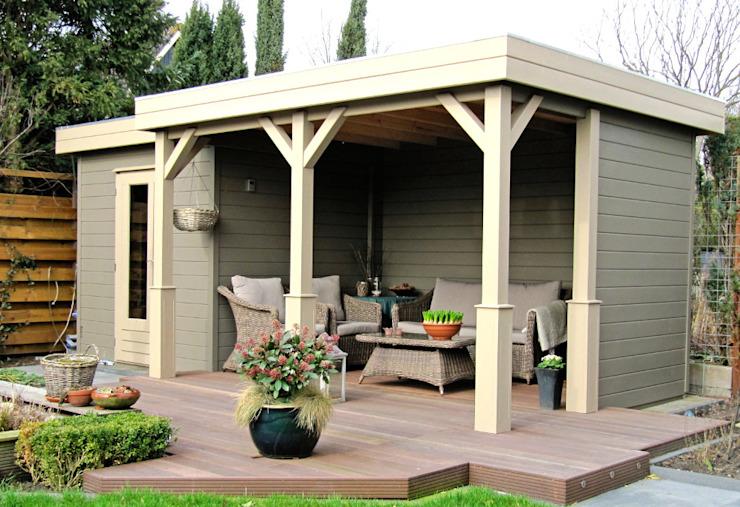 Gazebo Prima Capri Jardin moderne par Garden Affairs Ltd Effet bois moderne
