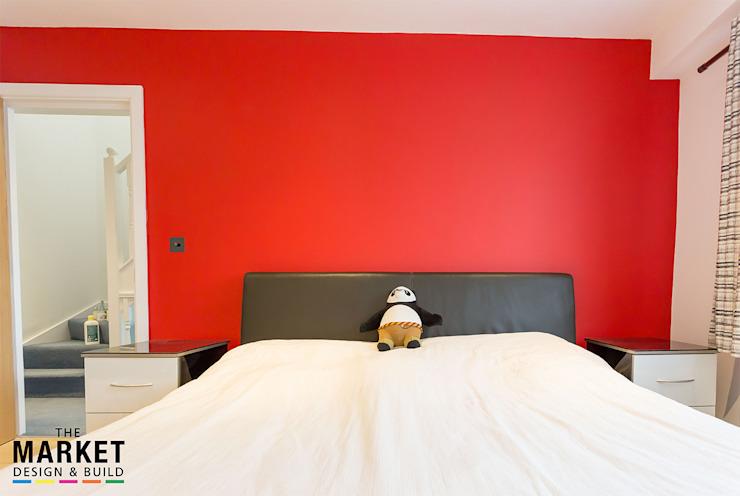 Chambre à coucher principale Chambre à coucher de style moderne par The Market Design & Build Modern