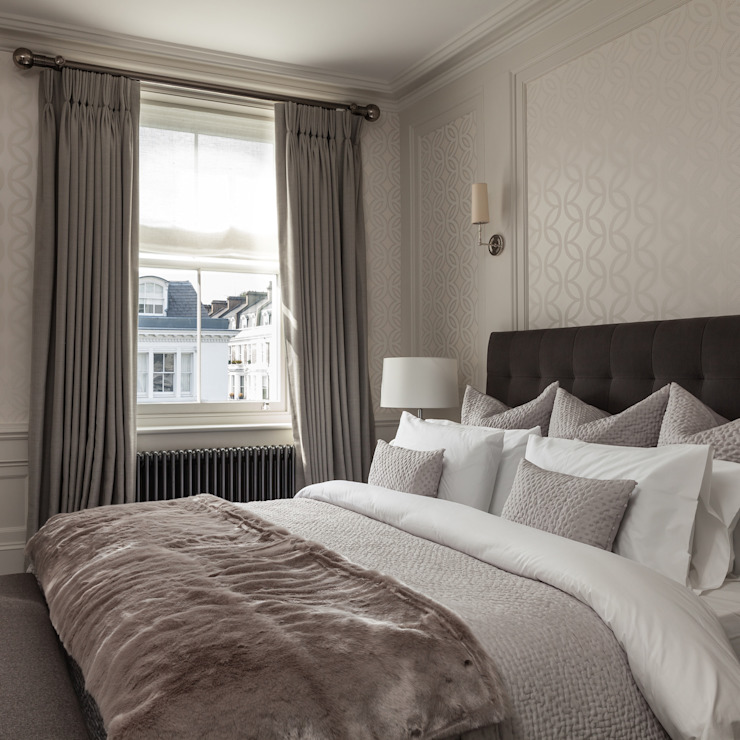 Kensington Town House Chambre à coucher de style moderne par London Home Staging Ltd Modern