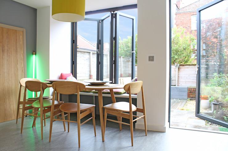 Maison du directeur de théâtre à Clifton, Bristol Salle à manger moderne de Dittrich Hudson Vasetti Architects Modern