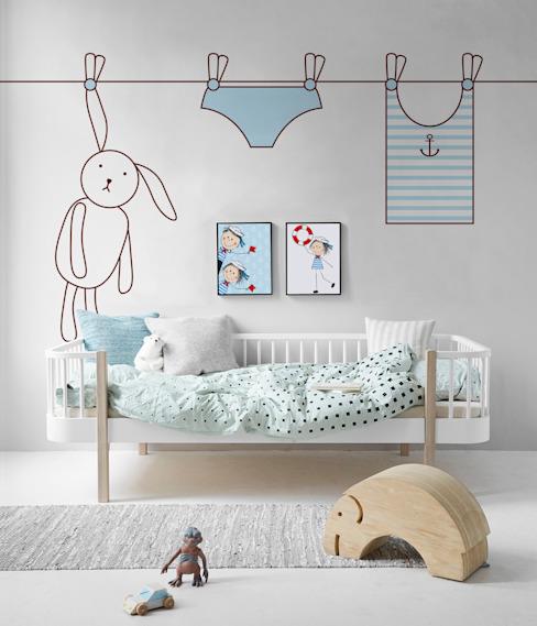 Le lapin et la laverie La chambre d'enfant de style scandinave par Pixers Scandinavian