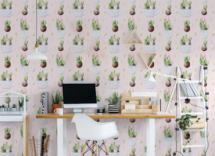 EASTER PLANTS Etude/bureau de style scandinave par Pixers Scandinavian