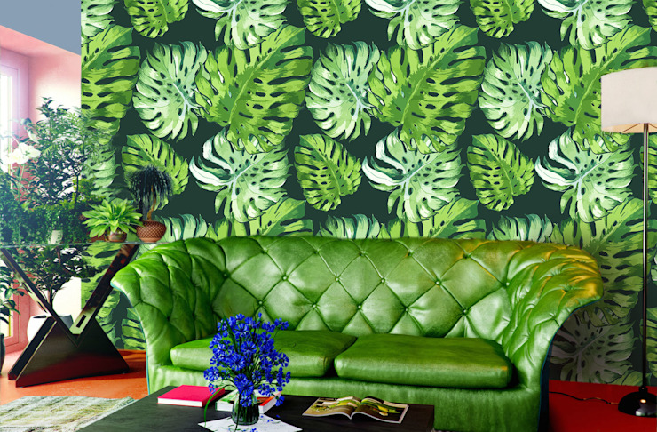 Salon de style colonial Tropical Leaves par Pixers Colonial