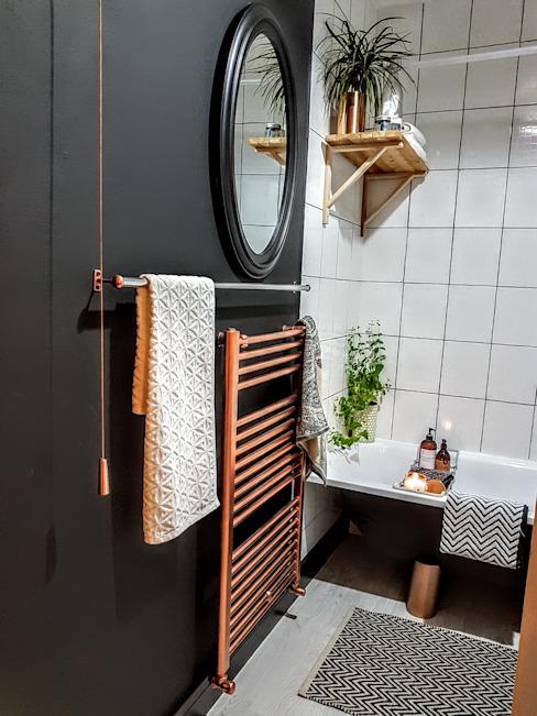 Transformation d'une salle de bains en salle de bains de style industriel par THE FRESH INTERIOR COMPANY Industrial