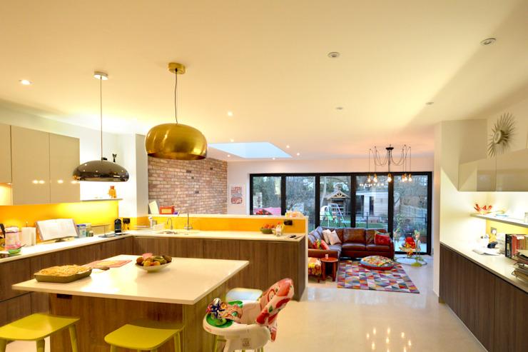 Grange Park, Enfield N21   Extension de la maison Cuisine moderne de GOAStudio   Architecture résidentielle de Londres Moderne