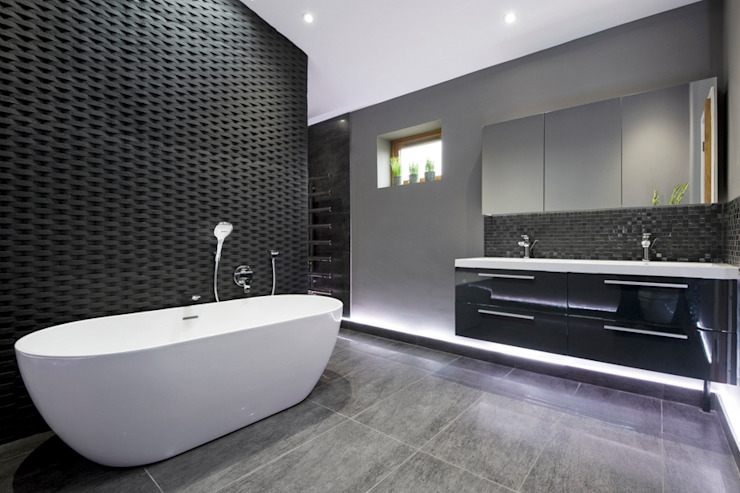 Salle de bain Rock Star Salle de bain moderne par Lisa Melvin Design Modern
