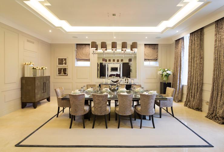 Fairways at the Bishops Avenue Salle à manger moderne par Celia Sawyer Luxury Interiors Modern