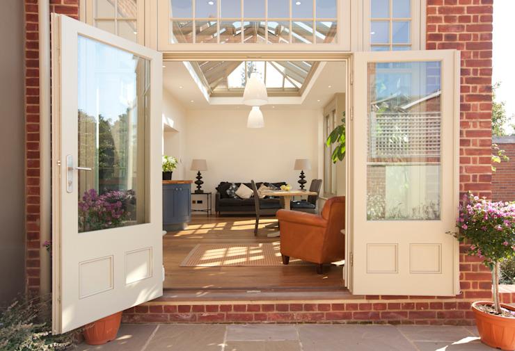 Portes françaises Conservatoire moderne de Westbury Garden Rooms Effet bois moderne