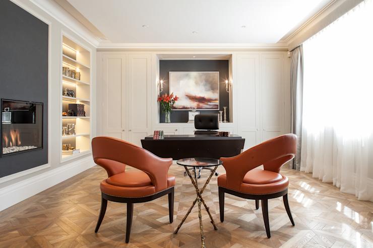 Photographie pour Kingshall Estates / Vastu Interiors - Maison à Northwood, Londres Etude/bureau moderne par Adelina Iliev Photographie moderne