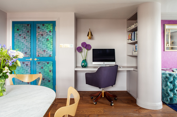 Riverside Flat inspiré de l'Art Déco : bureau/étude de style éclectique de Bermondsey par Cassidy Hughes Interior Design Eclectic