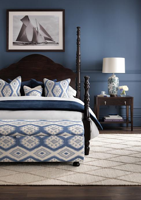 SS16 Style Guide - Élégance côtière - Chambre à coucher LuxDeco Country style chambre à coucher Bleu