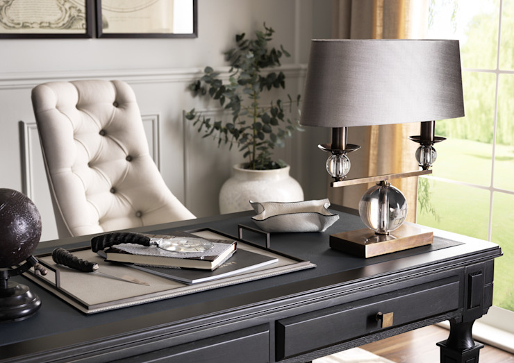 SS16 Style Guide - Coastal Elegance - Home Office/Study Country style study/office by LuxDeco Country