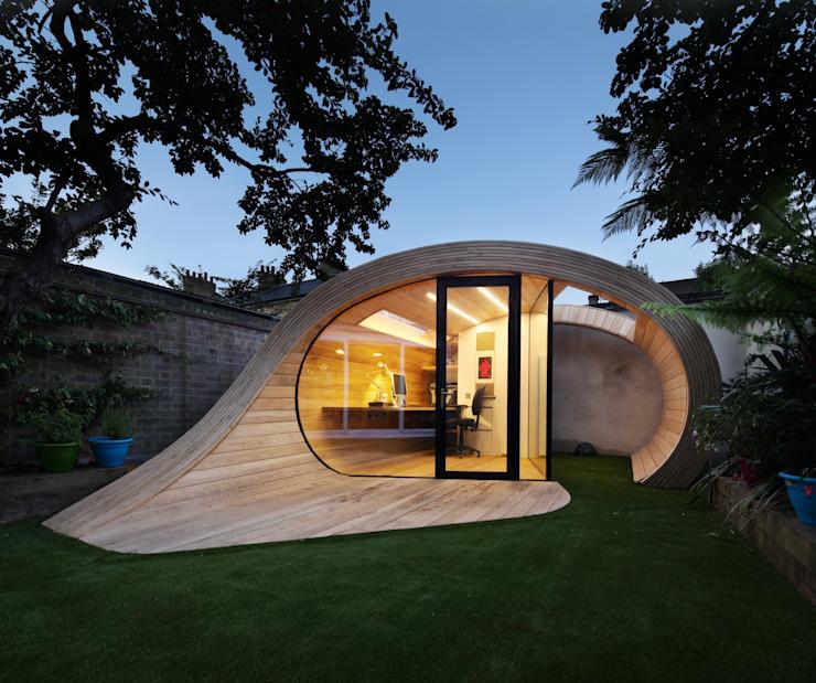 Shoffice Modern garage/hébergement par Platform 5 Architects LLP Modern